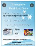 Please donate non perishable food for the West Chester Area Seniors!! Contact the WC Senior Center for more information.
